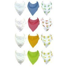 MuslinZ 3pk Cotton Dribble Bibs - Print