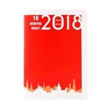 2018 Calendar Notebook Schedule Book Business Notepad Office Book-Red