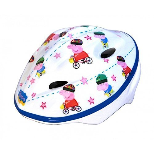 Dino Peppa Pig Kids Protective Cycling Safety Helmet White 48 to 54cm