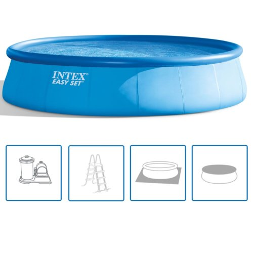 Intex Swimming Pool Easy Set 549x122cm Outdoor Garden Summer Water Play Centre
