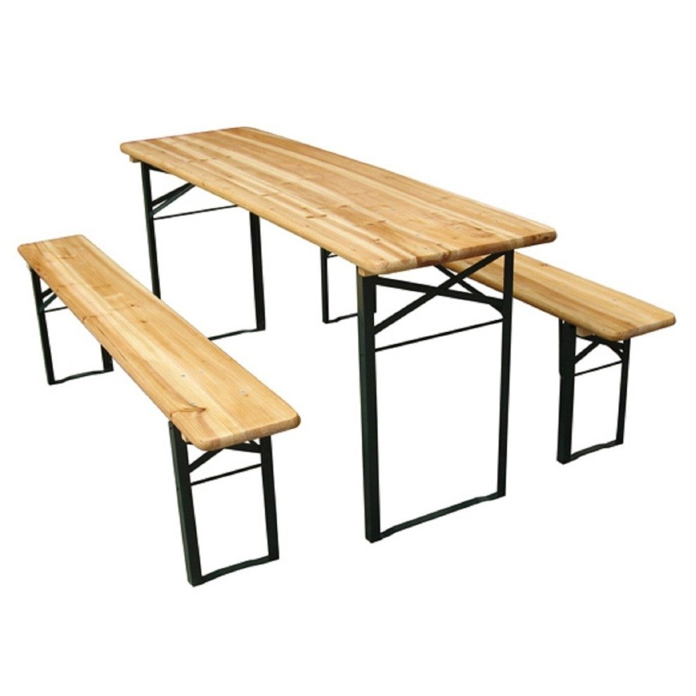 Outsunny Foldable Picnic Table Benches Folding Outdoor Dining Set On