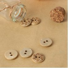 Coconut Shell 2 Holes Buttons DIY Crafting Sewing Buckles