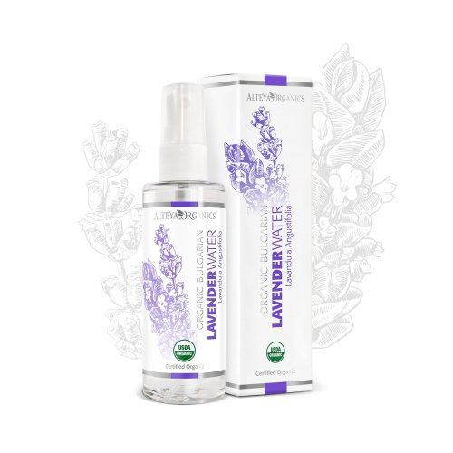 Alteya Organic Lavender Water Spray 100ml - 100% USDA Certified Organic Authentic Pure Natural Flower Water Steam-Distilled and Sold Directly by...