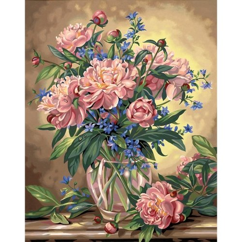 Dpw91382 - Paintsworks Paint by Numbers - Peony Floral