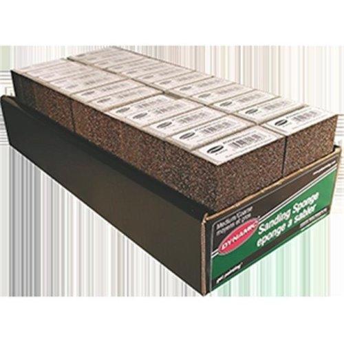 Dynamic AG002604 Medium & Coarse Sanding Sponge Display Box - Pack of 24