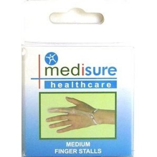 Medisure Stall Finger Plastic - M - Pair Flexible Pvc Stalls Choose Your Size -  medisure pair flexible pvc finger stalls choose your size