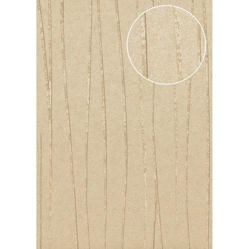 Atlas COL-570-4 Stripes wallpaper shimmering beige gold 5.33 sqm