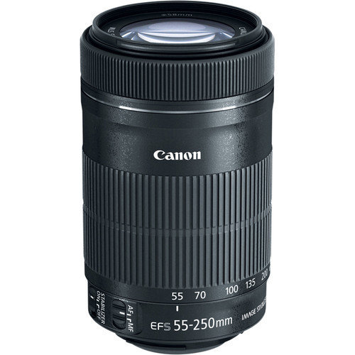 CANON EF-S 55-250mm F4-5.6 IS STM Black
