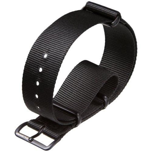 NATO G10 Nylon Military Watch Strap by ZULUDIVER® IPB, Black, 18mm