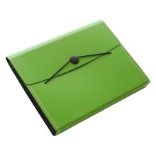 Non-portable Multilayer Student Paper Clip Plastic A4 Information Bag-Green
