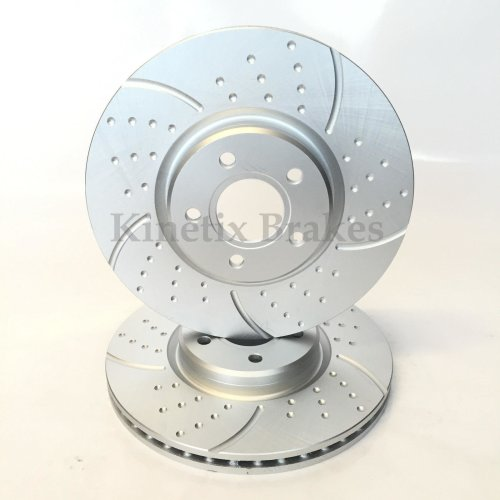 2012 2013 For Ford Focus Coated Front Disc Brake Rotors and Ceramic Pads Non-ST