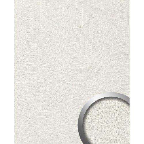 WallFace 19775 Antigrav LEGUAN Bianco Wall panel leather look matt white 2,6 m2
