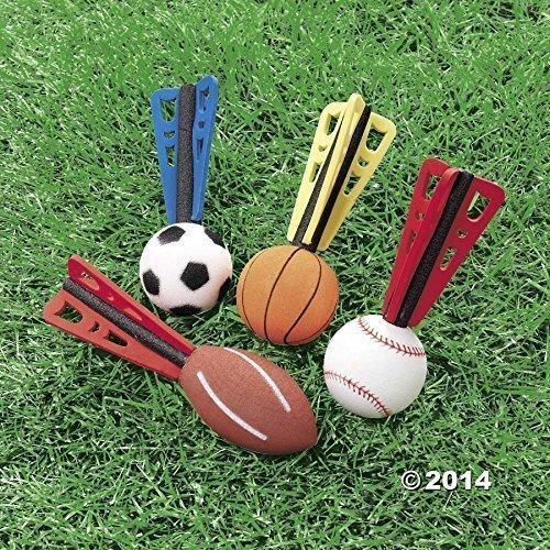 Foam Sports Ball Missiles, Set of 12