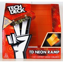 Spinmaster Tech Deck Neon Ramp, Double Bank