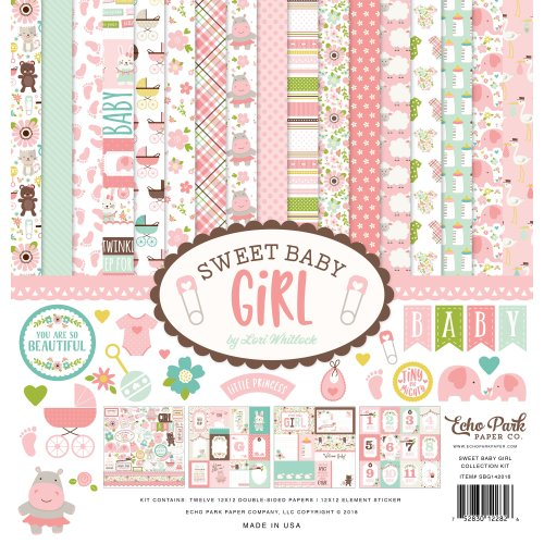 """Echo Park Collection Kit 12""""X12""""-Sweet Baby Girl"""