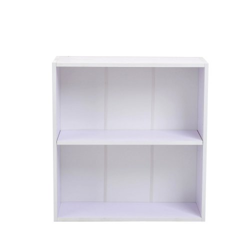 Homcom 2-Tier Bookcase | 2-Tier Wooden Shelving Unit