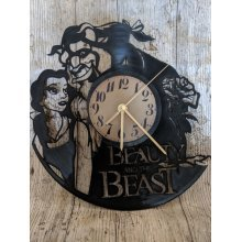 Beauty And The Beast Vinyl Record Clock home decor gift