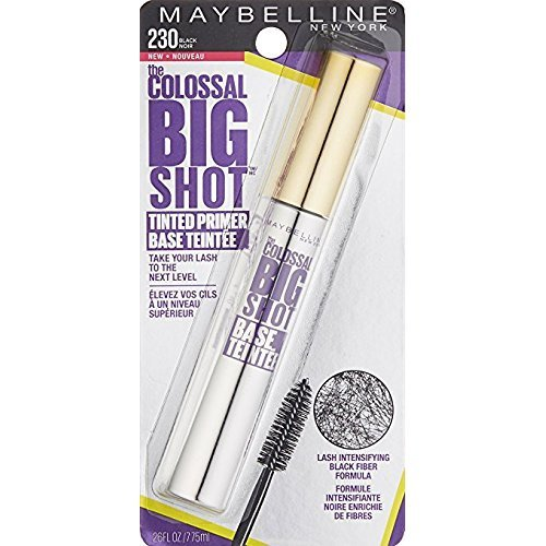 Maybelline Volume Express The Colossal Big Shot Tinted Primer, 230 Black (Pack of 2)