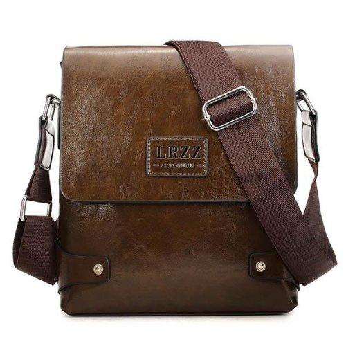 Men Business PU Casual Male Messenger Shoulder Crossbody Bag Briefcase