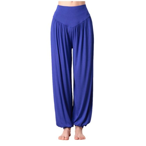 Solid Modal Cotton Soft Yoga Sports Dance Fitness Trousers Harem Pants, M