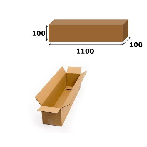 1x Postal Cardboard Box Long Mailing Shipping Carton 1100x100x100mm Brown