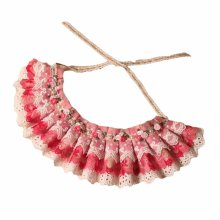 """Retro Style Pink Lace Collars Floral Beads Handmade Cat/Dog Necklace 8.2-11.2"""""""