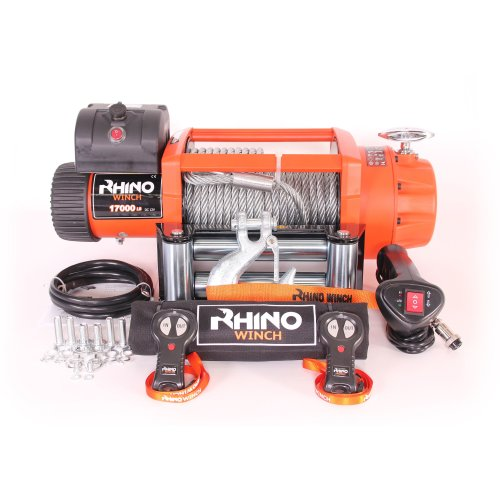 Rhino Electric Winch Wireless Recovery 24v 17500Lb / 7940Kg