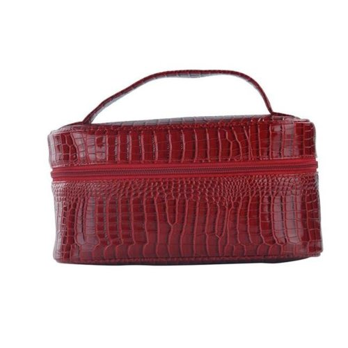 Picnic Gift 7522-RD Lemondrop-Chic & Classy Insulated Cosmetics Bag For The Minimalist Cosmoqueens, Red Croc