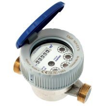 "1/2"" - 3/4"" BSP Cold Water Flow Meter Single Jet Semi-dry Dial Protected Rolls"