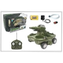 Remote Control Amphibious Tank with Water Firing Cannon