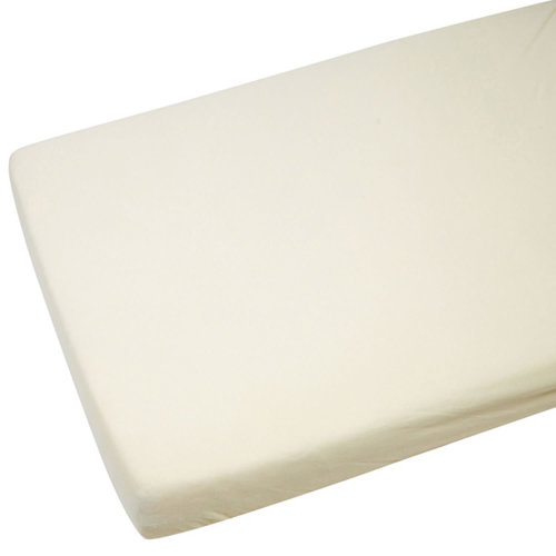 Toddler Bed / Junior Bed 100% Cotton Jersey Fitted Sheet. Size 140cm x 70cm NEW (4x Cream)