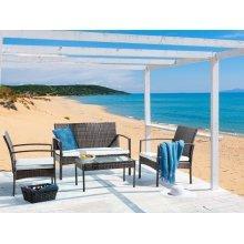 Garden Sofa Set - Patio Set - Rattan - 4 Seater Sofa Set -  MARSALA
