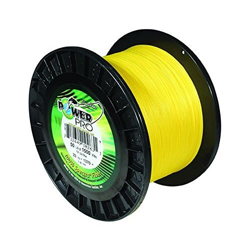 PowerPro Power Pro 21101500300Y Braided Spectra Fiber Fishing Line, 150 Lb/300 yd, Hi-VIS Yellow