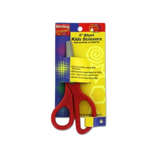 5 Inch blunt kids scissors - Pack of 48