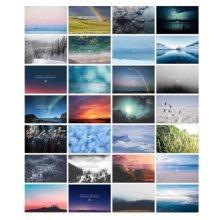 30PCS 1 Set Creative Postcards Artistic Beautiful Postcards, Wilderness