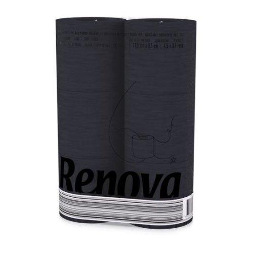Renova [24 Rolls Black] 3 Ply Soft Colour Toilet Loo Bathroom Tissue Paper Rolls