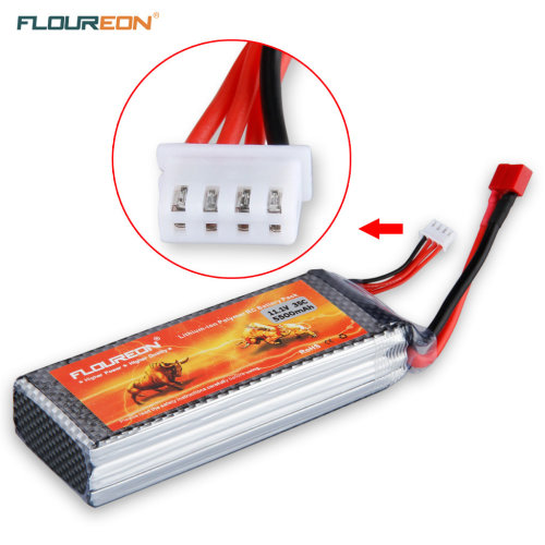FLOUREON 3S 11.1V 5500mAh 35C LiPo Battery For RC Car W/ Dean Plug