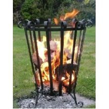 HOMESTEAD & GARDEN Patio/Terrace Fire Basket/Brazier UK HANDMADE outdoors heater
