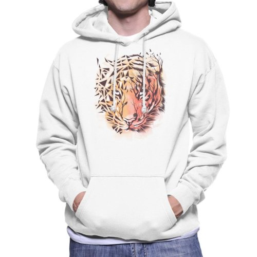 Geometric Tiger Men's Hooded Sweatshirt