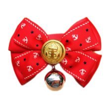 England Style Pet Collar Tie Adjustable Bowknot Cat Dog Collars with Bell-C01