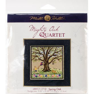"""Spring Oak Counted Cross Stitch Kit-5.25""""X5.25"""" 14 Count"""