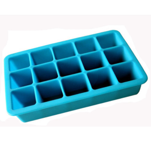 Safe And Soft Silicon Ice Cube Tray, Blue, Set of 2,18.8*12*3.5CM