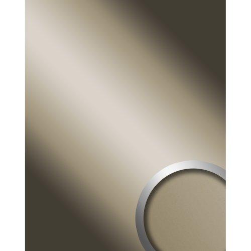WallFace 12430 DECO CHAMPAGNE Wallpanel self-adhesive Mirror glossy grey 2.6 sqm