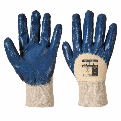 sUw - Nitrile Light Knitwrist Work Grip Gloves (1 Pair Pack)