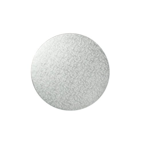 "11"" Thin Silver Round Cake Board 3mm Thick"