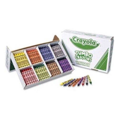 Crayola 528389 Jumbo Classpack Crayons, 25 Each of 8 Colors, 200Box