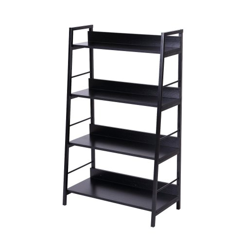 Homcom Black Wooden Bookshelf | Storage Shelves