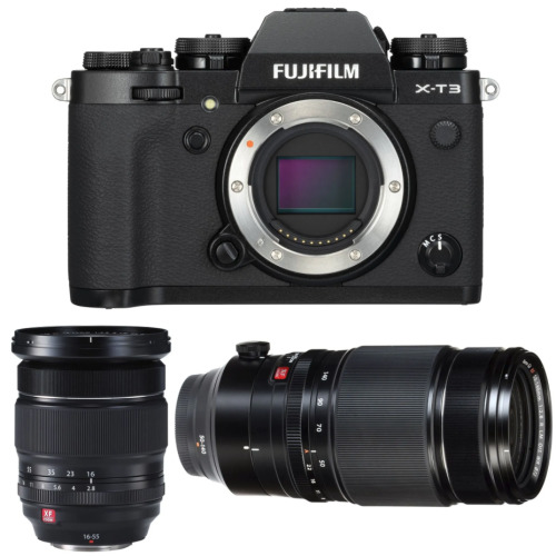 FUJI X-T3 Black + XF 16-55MM F2.8 R LM WR+XF 50-140MM F2.8 R LM OIS WR