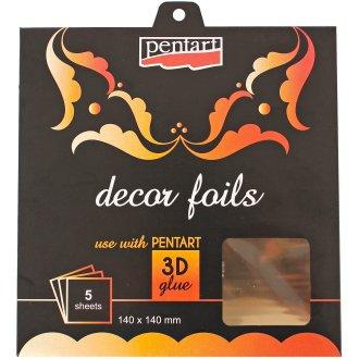 "Decor Foil 5.5""X5.5"" 5/Pkg-Metallic Gold"