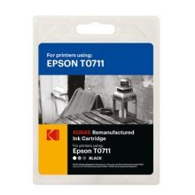 Kodak Remanufactured Epson T0711/T0891 Black Inkjet Ink, 7.4ml